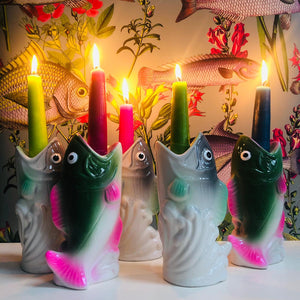 Ceramic Fish Candlestick Holder
