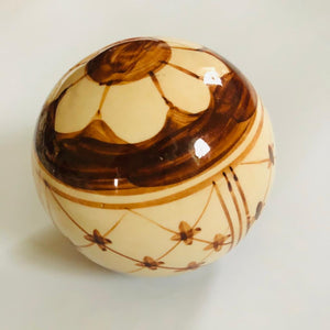 Hand Decorated Stoneware Decorative Balls