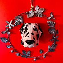Load image into Gallery viewer, Ceramic Dalmatian Head Wall Sconce Vase