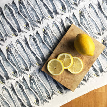 Load image into Gallery viewer, Eat Sardines Tea Towel