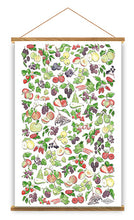 Load image into Gallery viewer, Fruits Of The British Isles Tea Towel