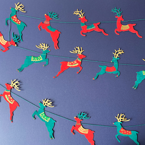 Colourful Reindeer Garland