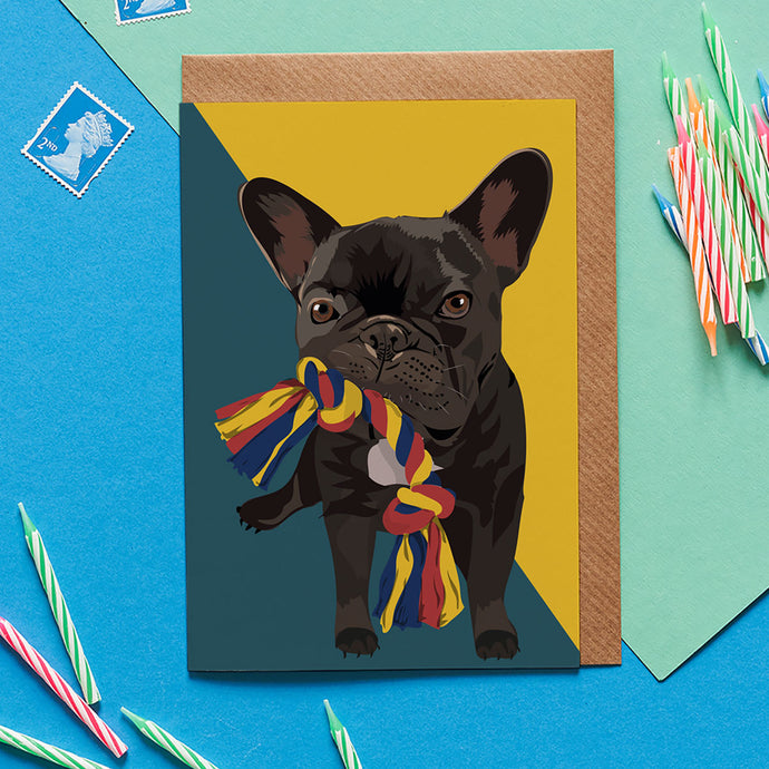 Ronnie French Bulldog Greeting Card - ad&i