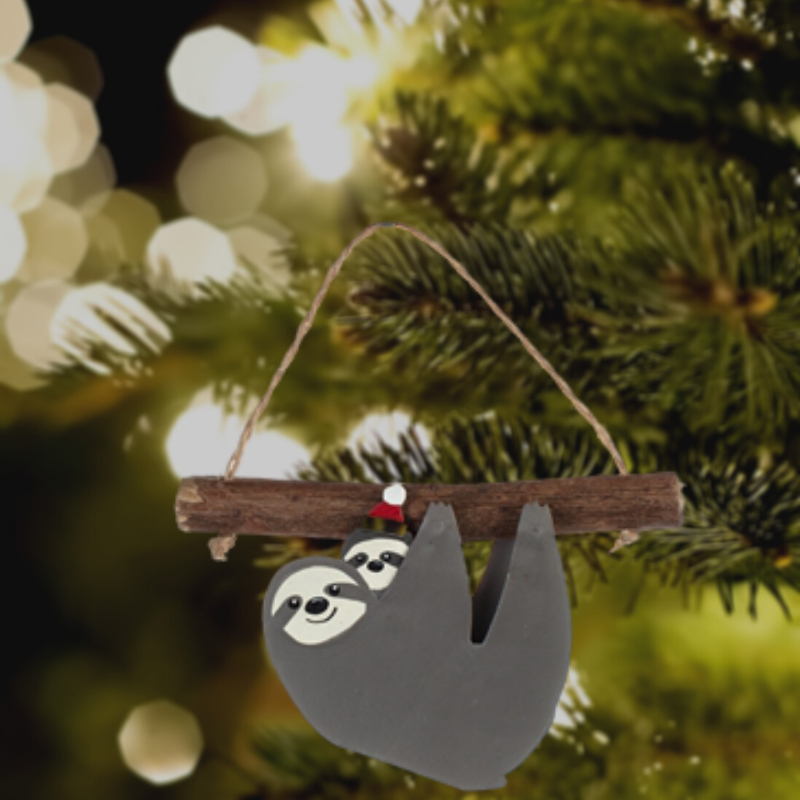 Mother and Baby Sloth Christmas Tree Decoration - ad&i