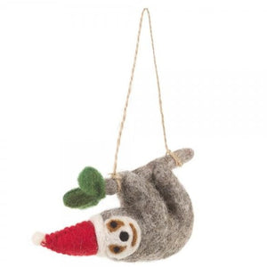 Simon the Sloth Felt Christmas Tree Decoration - ad&i