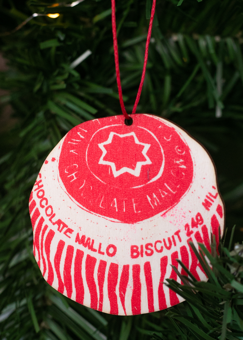 Screen Printed Teacake Christmas Decoration