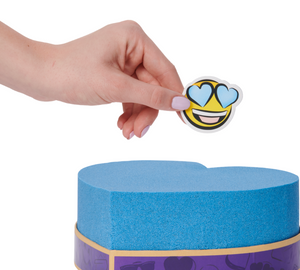 Emoji + Blue Shimmer Kinetic Sand