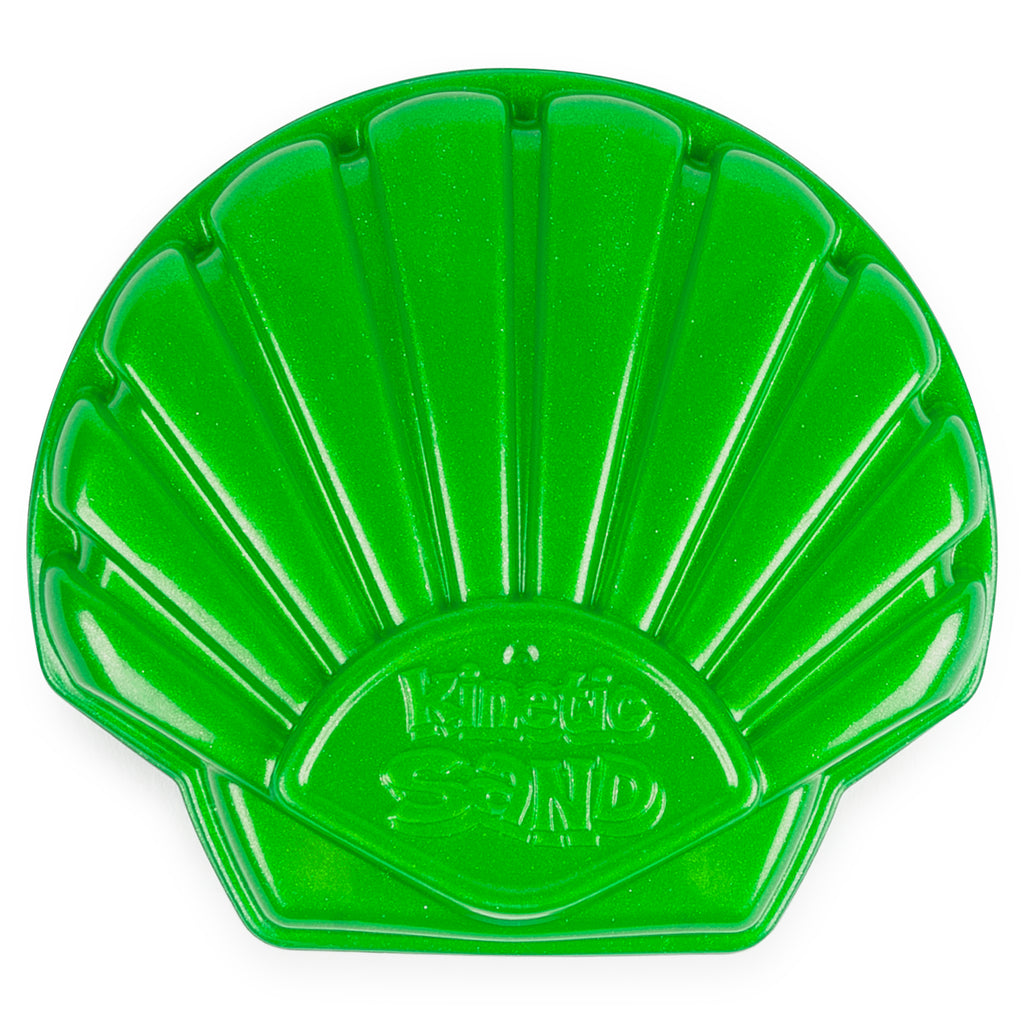 Green Seashell Container 4.5 oz