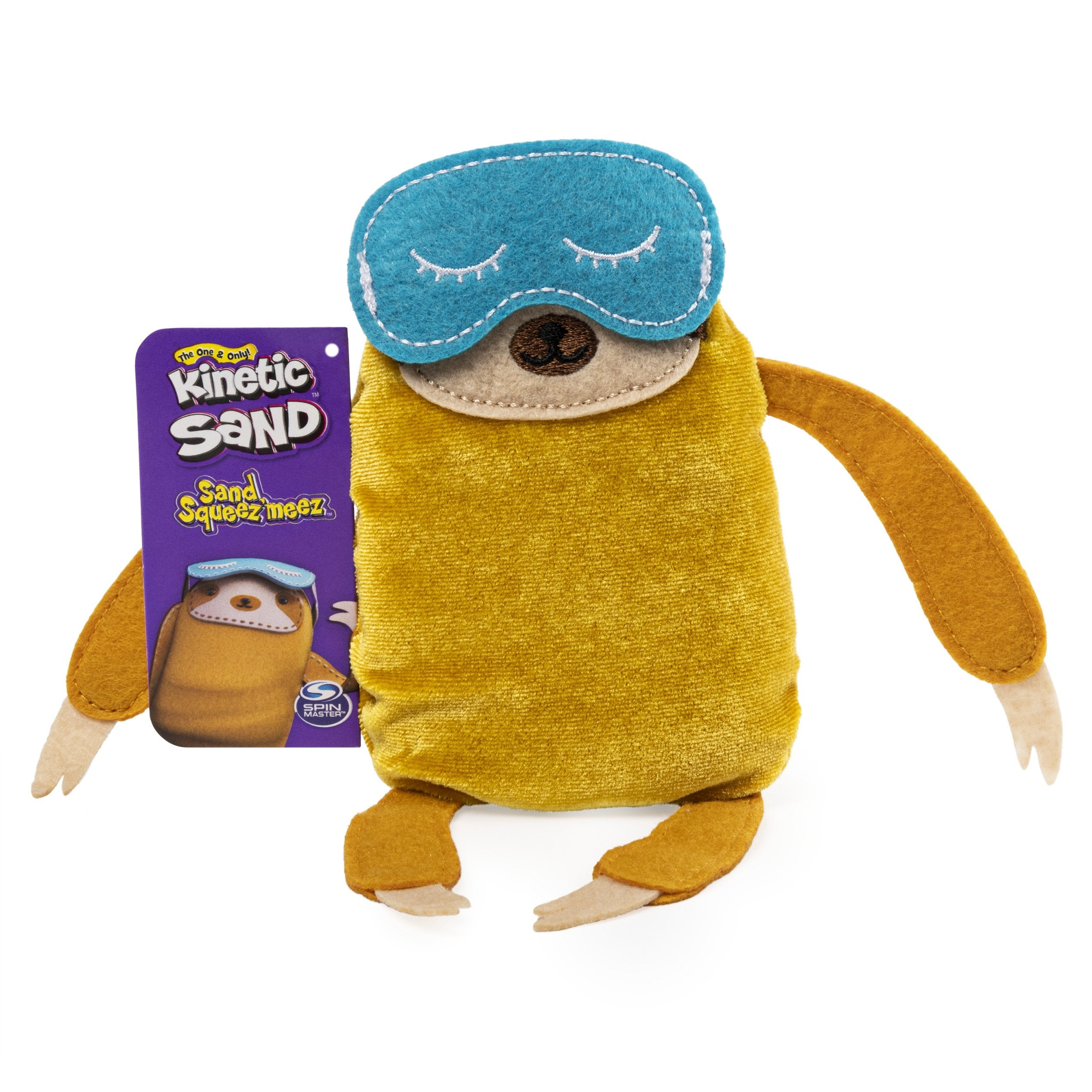 Sand Filled Stuffed Animals, Sloth Squeez Meez Kinetic Sand Official Site