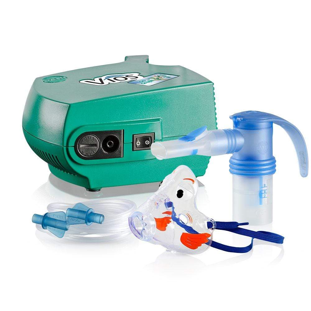 PARI Vios 'Go Green!' Pediatric Nebulizer System with LC Sprint & Bubbles Mask 310F35-P