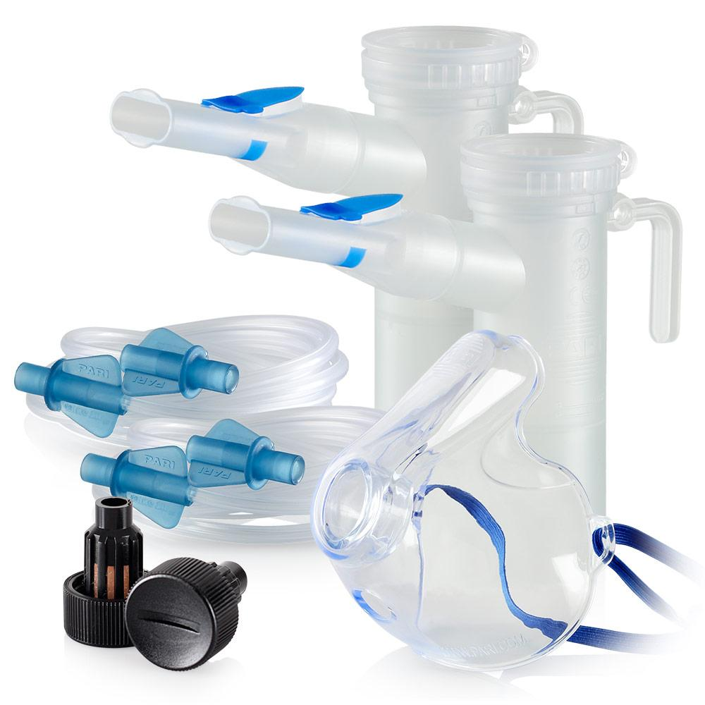 Replacement Supply Kit: One Year of Nebulizer Supplies PARI ProNeb / PARI LC Plus with WingTip Tubing / Add 1x PARI LC Plus Adult Mask. 1x041F64P2-2x022F81-1x044F7252