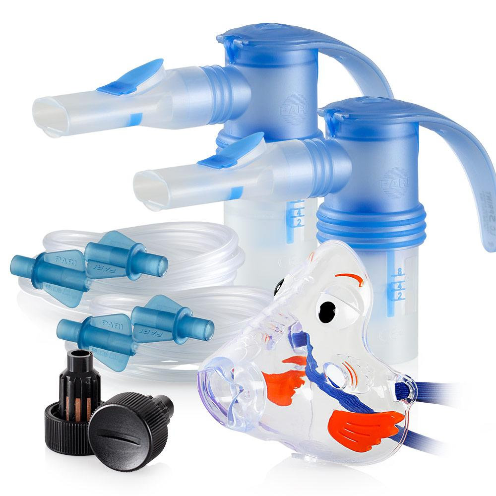 Replacement Supply Kit: One Year of Nebulizer Supplies PARI ProNeb / PARI LC Sprint with WingTip Tubing / Add 1x PARI Bubbles Pediatric Mask. 1x041F64P2-2x023F35-1x044F7248