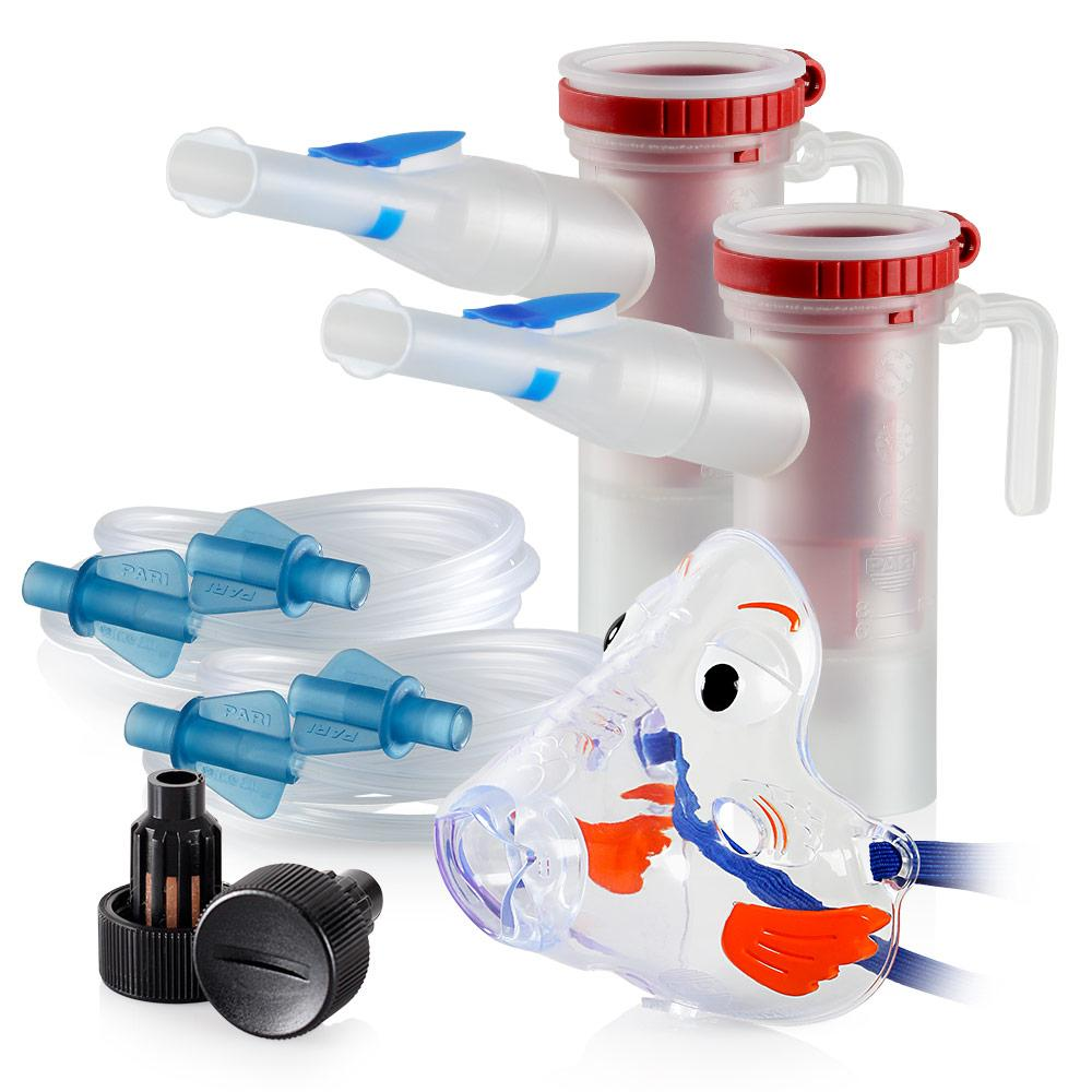 Replacement Supply Kit: One Year of Nebulizer Supplies PARI ProNeb / PARI LC Star with WingTip Tubing / Add 1x PARI Bubbles Pediatric Mask. 1x041F64P2-2x022F51-1x044F7248