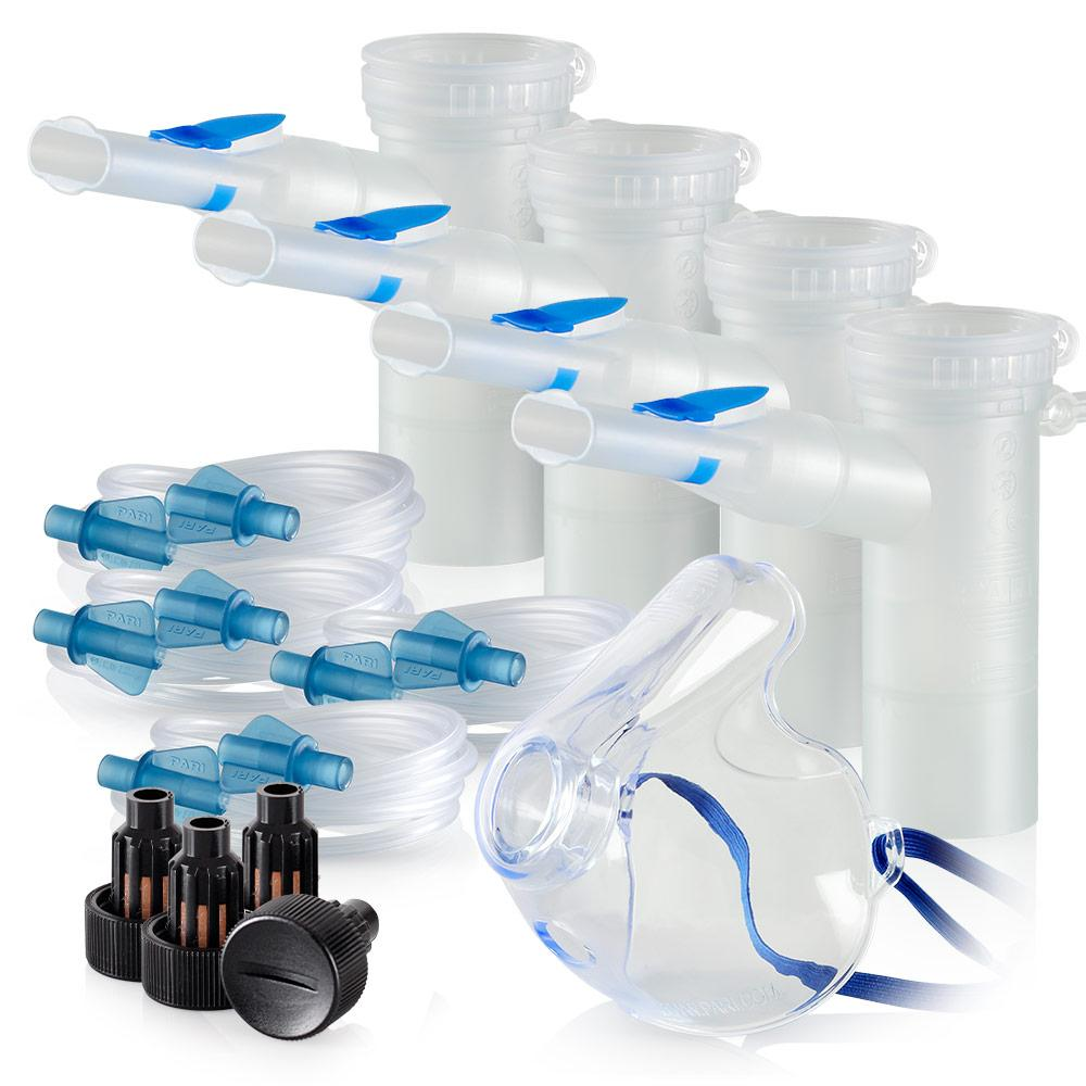 Replacement Supply Kit: Two Years of Nebulizer Supplies PARI ProNeb / PARI LC Plus with WingTip Tubing / Add 1x PARI LC Plus Adult Mask. 2x041F64P2-4x022F81-1x044F7252