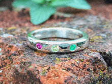 Load image into Gallery viewer, Birthstone ring, handmade, sterling silver, Mother's Day, birthday, anniversary, gemstones