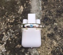 Load image into Gallery viewer, Handmade Eternity/Baby ring with Birthstone and Diamonds