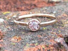 Load image into Gallery viewer, Handmade 4mm Morganite ring