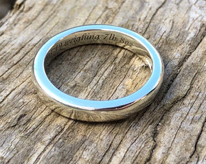 Handmade Eternity/Baby ring with Birthstone and Diamonds