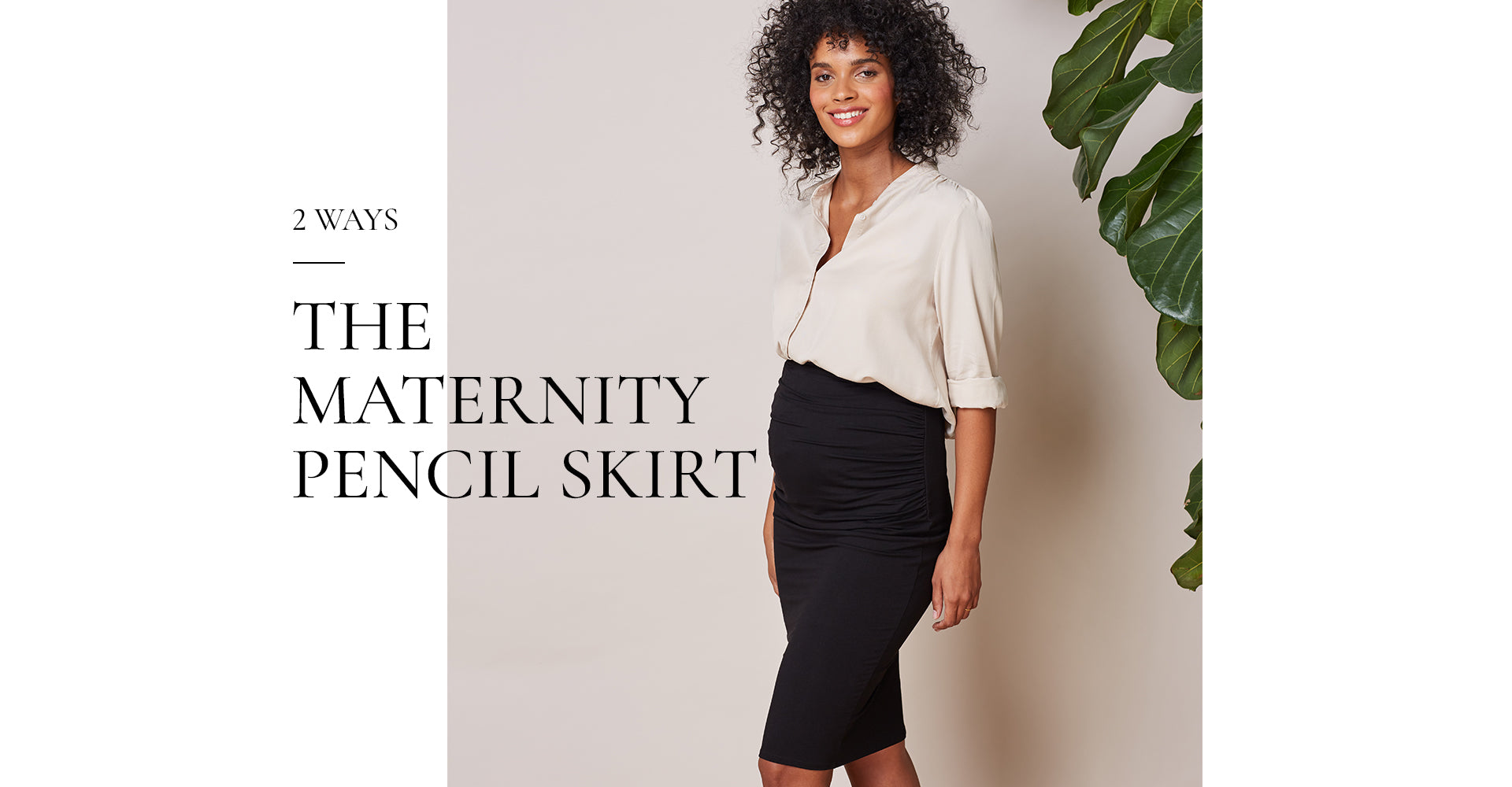 The Maternity Pencil Skirt