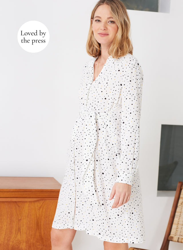 Freya Maternity Shirt Dress