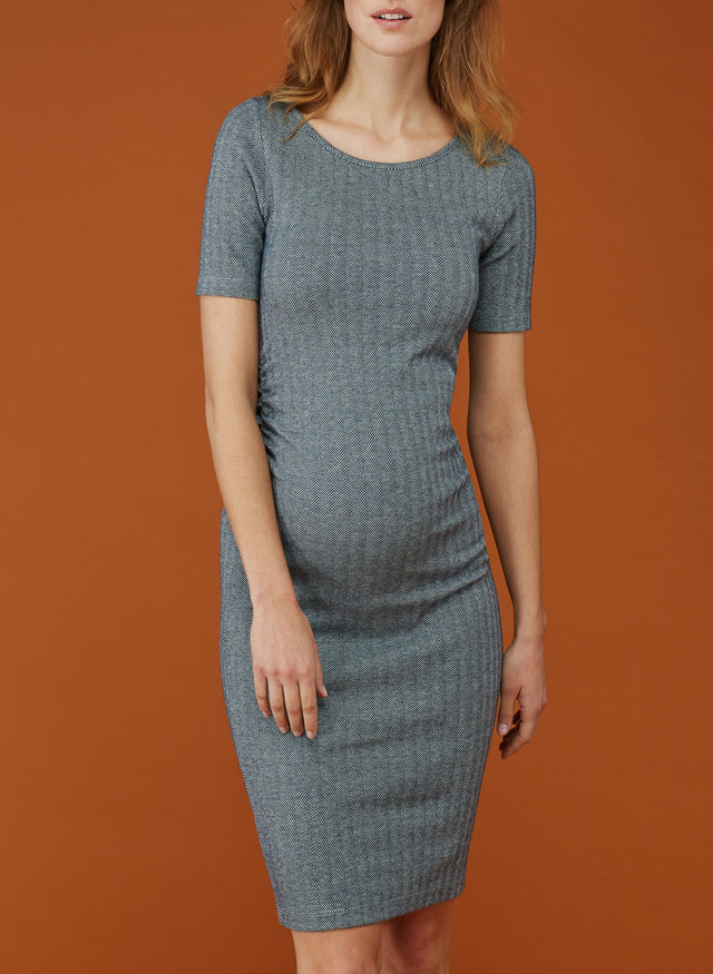 Effra Ruched Maternity Dress