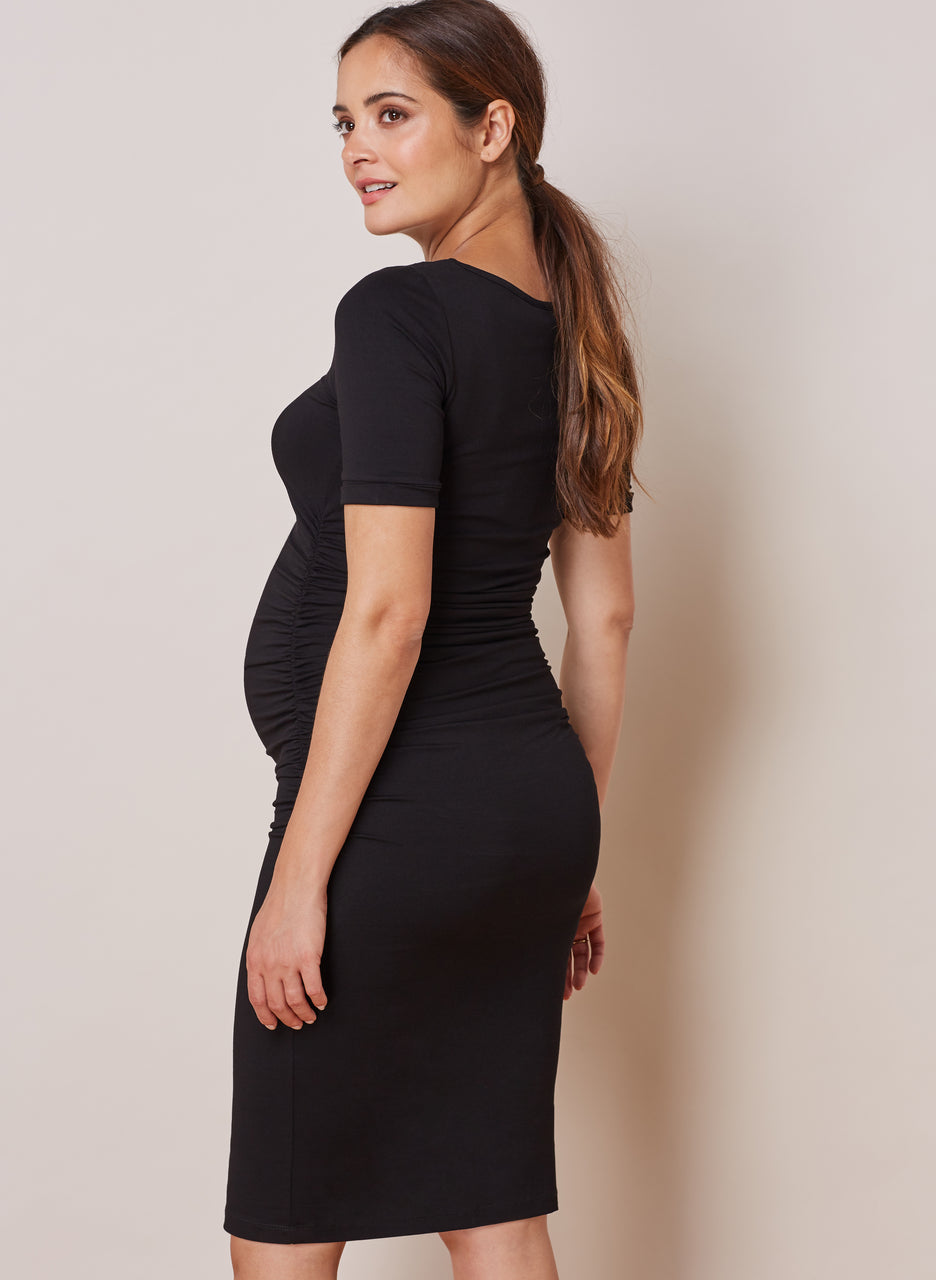 Ruched T Shirt Maternity Dress to Rent