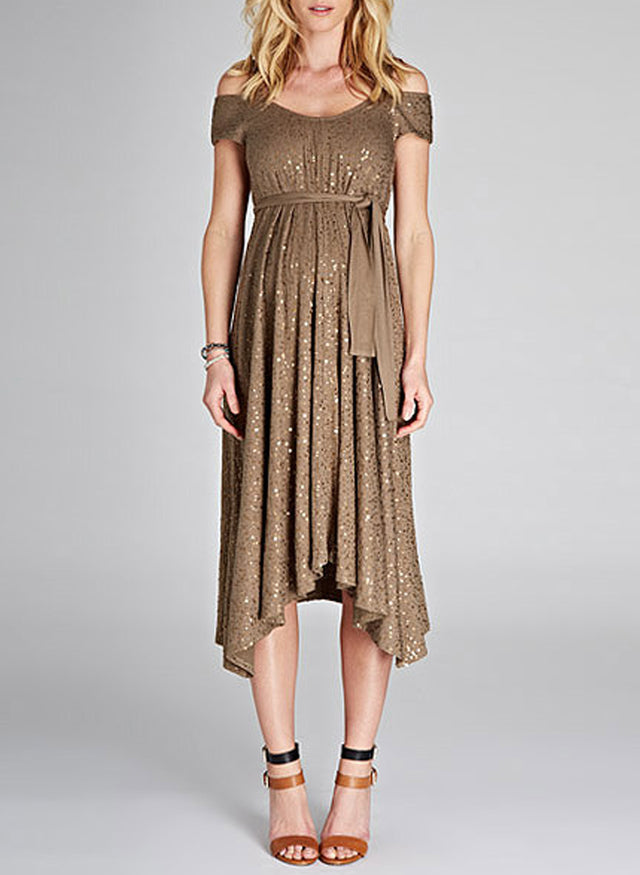 Marie Sequin Maternity Dress