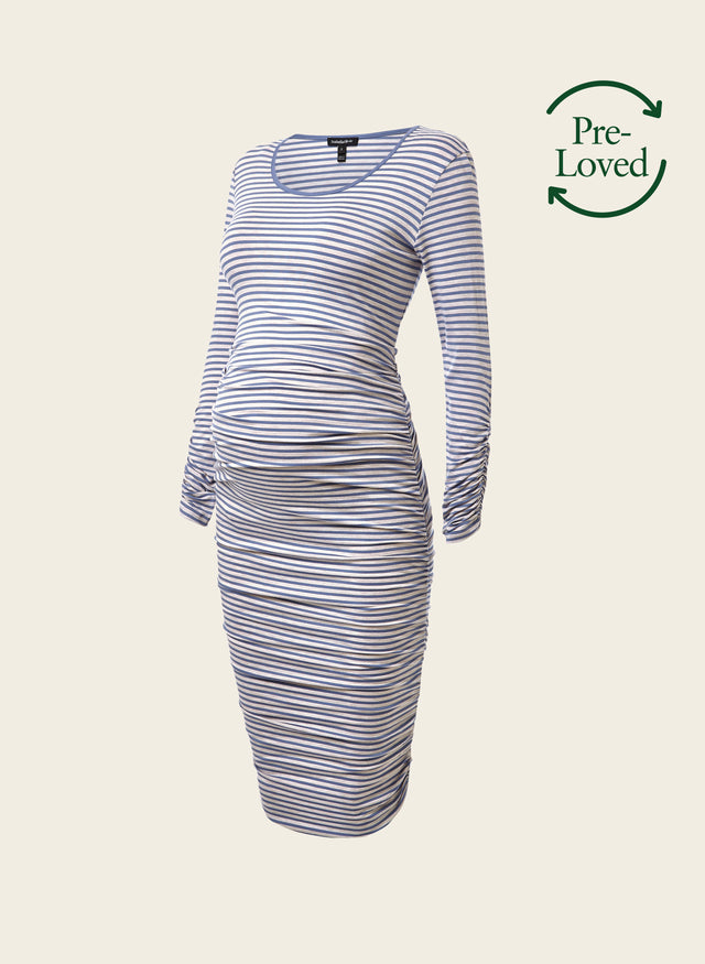 Pre-Loved Scala Maternity Stripe Dress by Isabella Oliver
