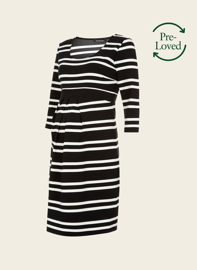 Pre-Loved Finch Maternity Striped Dress by Isabella Oliver