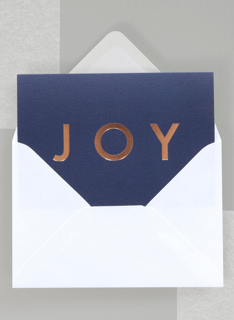 Ola Festive Joy Typographic Foil Blocked Card