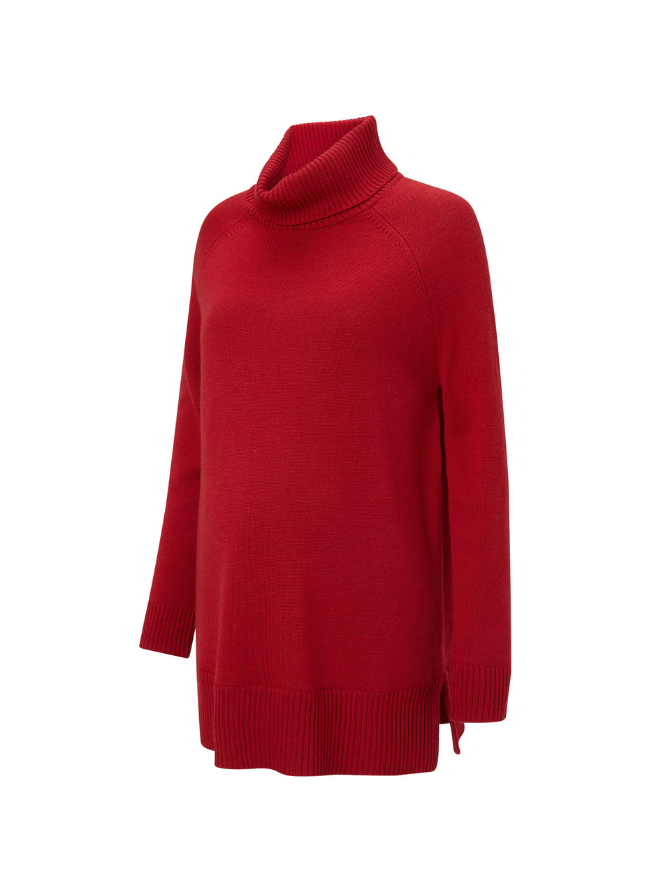 Tessa Maternity Roll Neck Jumper