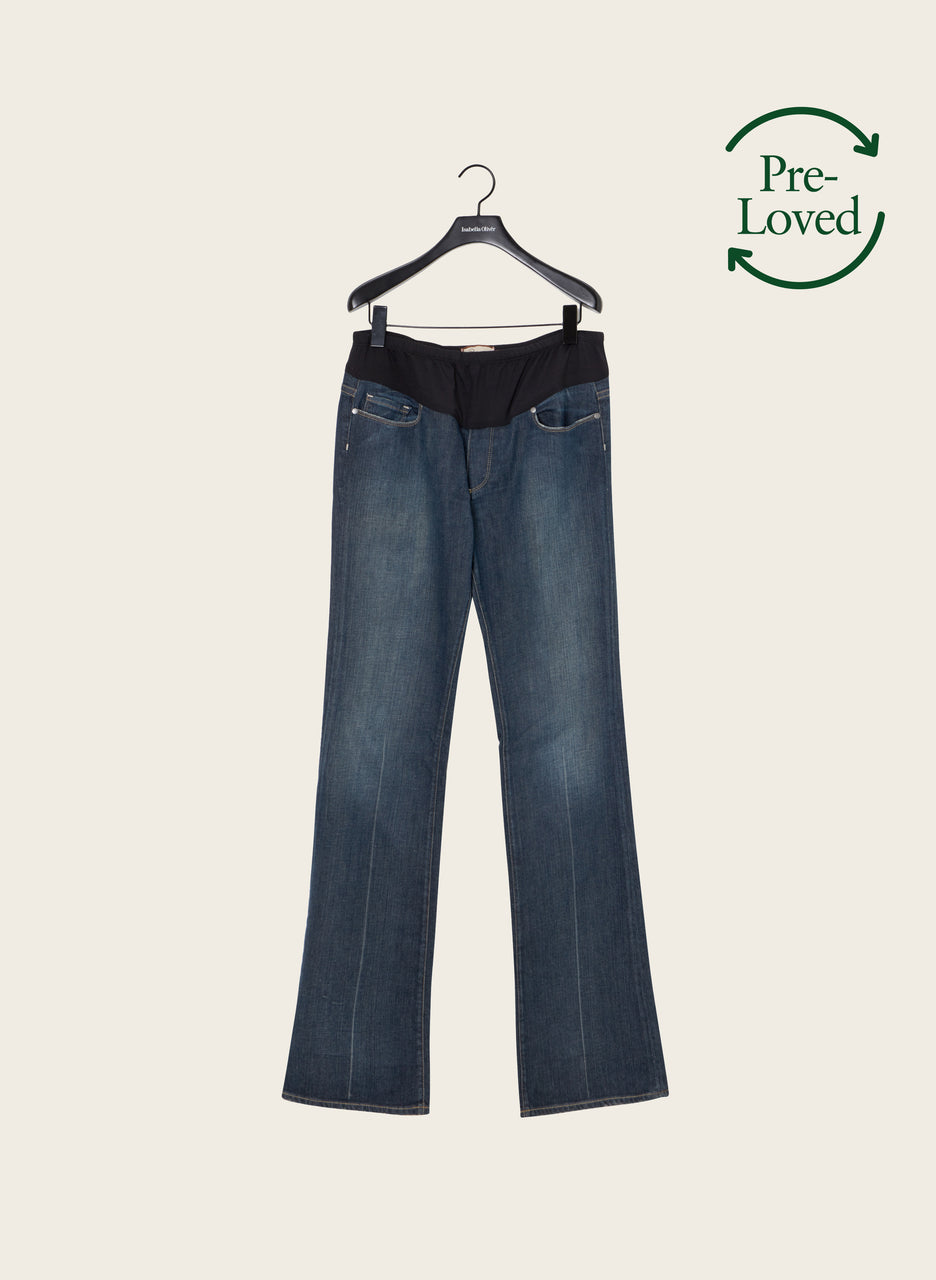 Pre-Loved Bootcut Jeans by Paige Maternity