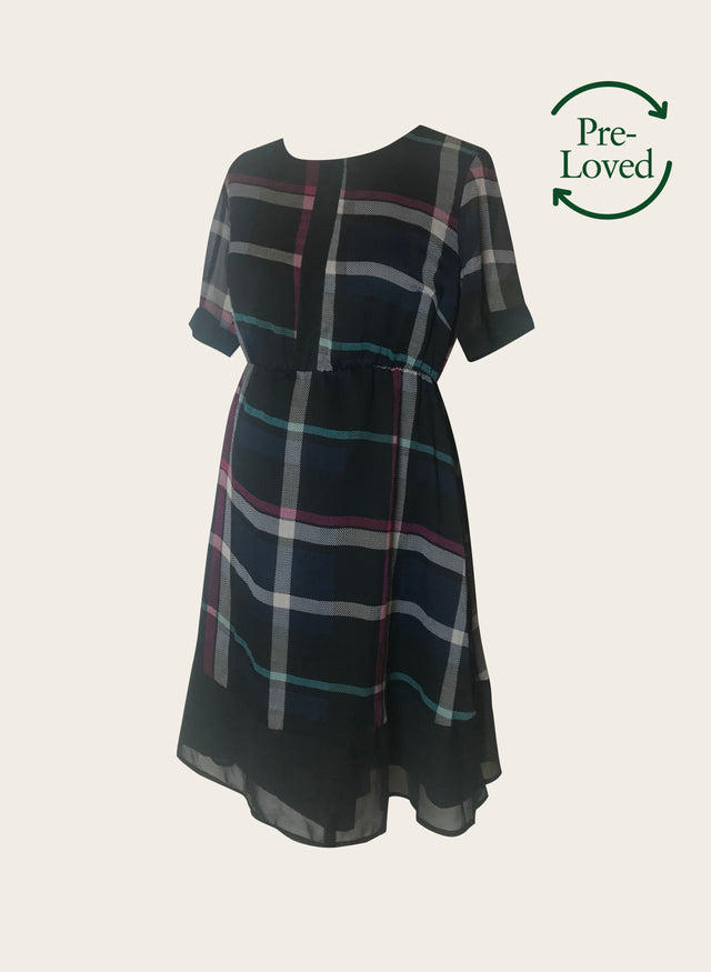 Pre-Loved Check Smock Dress by ASOS