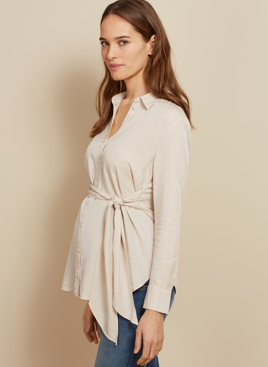 Aiden Maternity Tie Shirt