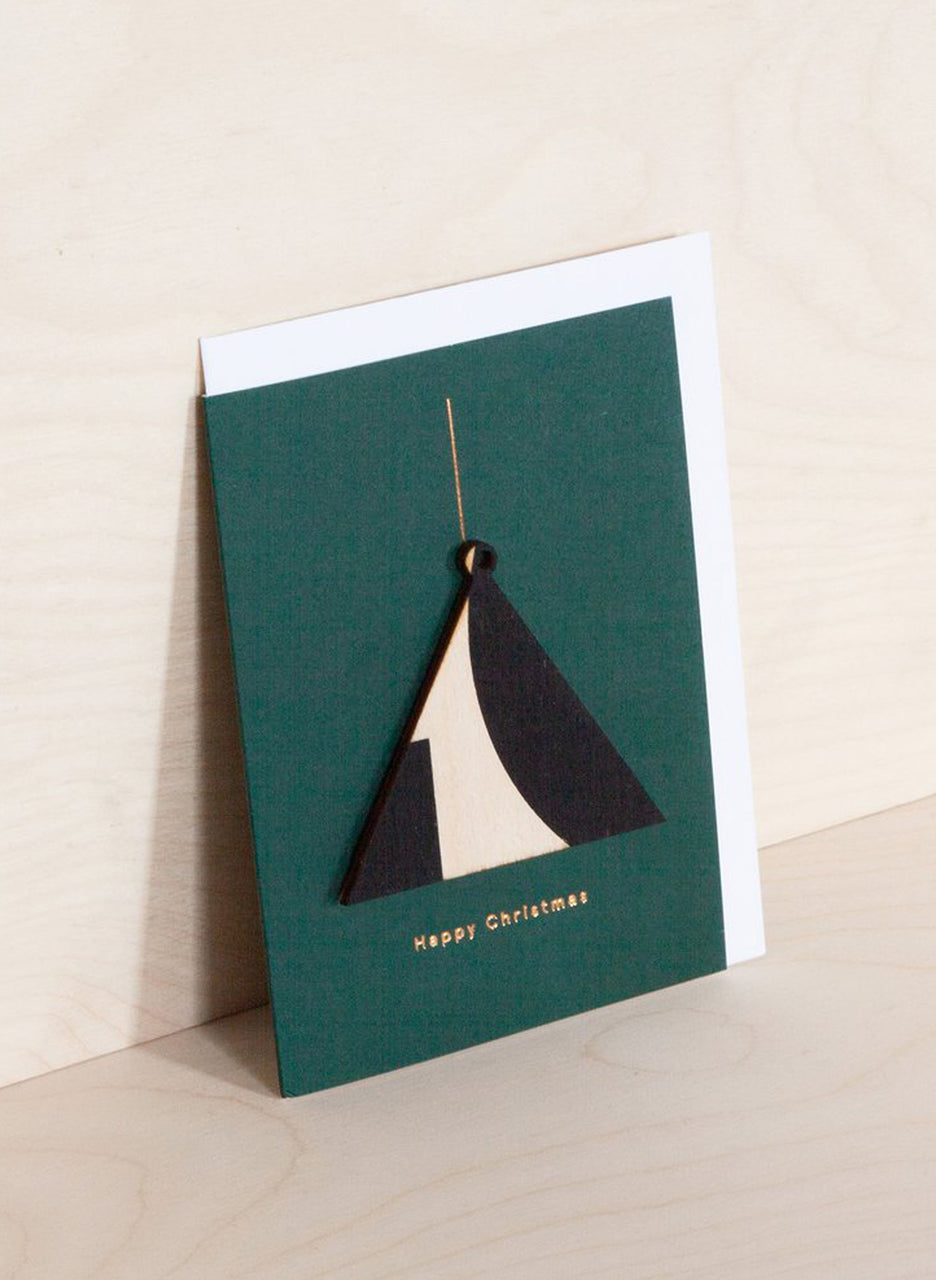 Ola Screenprinted Wooden Ornament Card