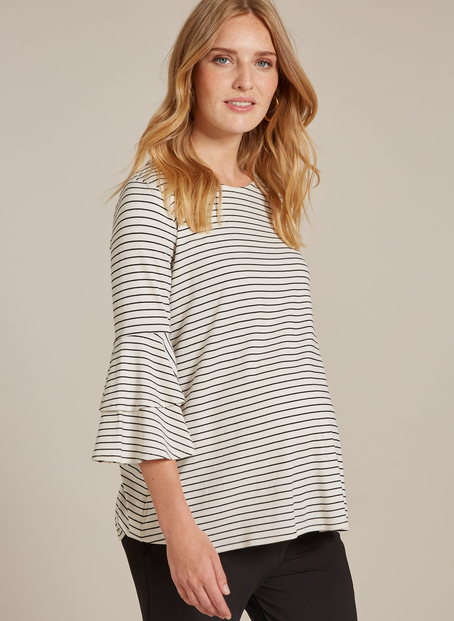 Jamie Maternity Ruffle Top