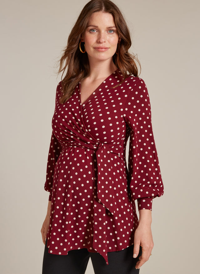 Lydia Maternity Bell Sleeve Blouse
