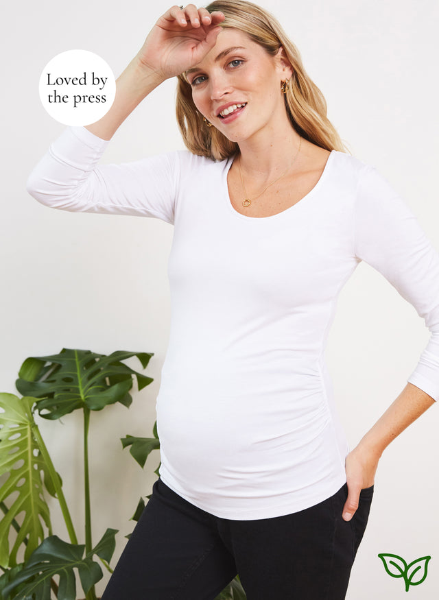 The Maternity Scoop Top with LENZING™ ECOVERO™
