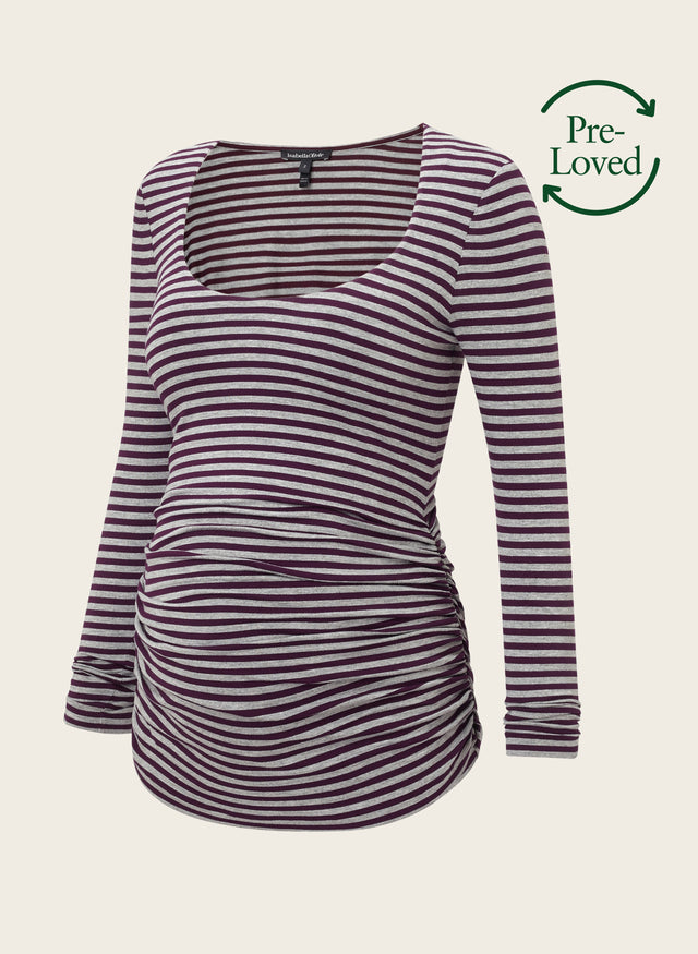 Pre-Loved Arlington Striped Maternity Top by Isabella Oliver