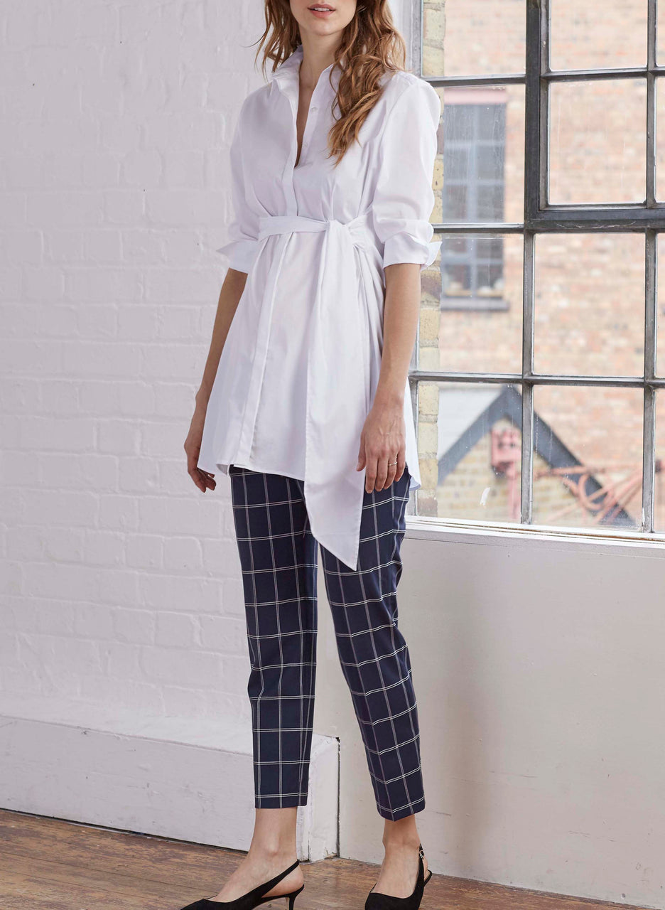 Maya Maternity Check Trousers