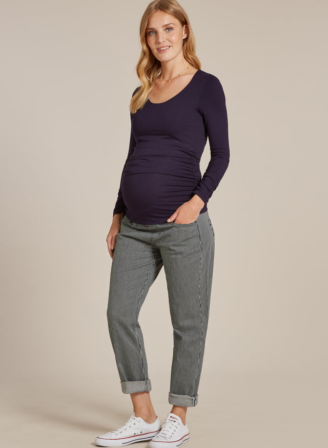 Stripe Maternity Stretch Trousers