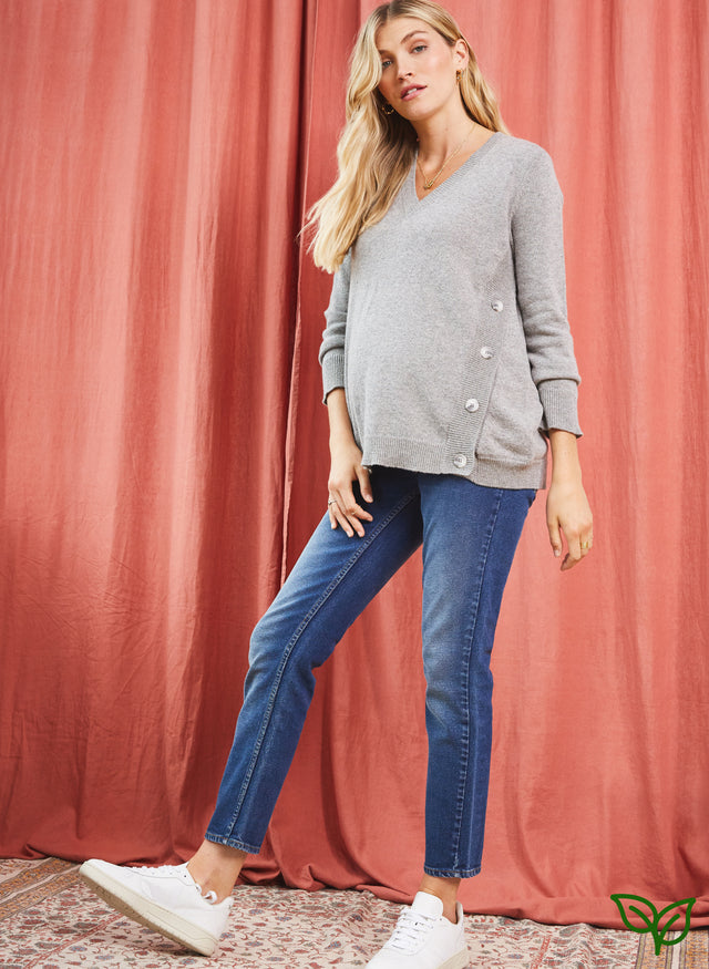 Over the bump Maternity Boyfriend Jean