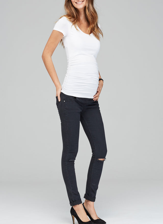 Zadie Ripped Stretch Maternity Skinny Jeans