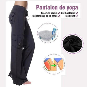 Womens Yoga Pants Wide Leg Sweatpants Bootleg Pants with Pockets