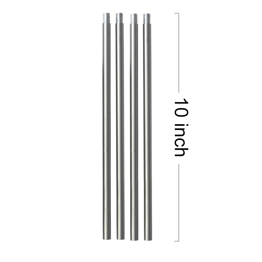 Rods for VINLUZ Brushed Nickel Chandelier Lighting Included 4 Rods