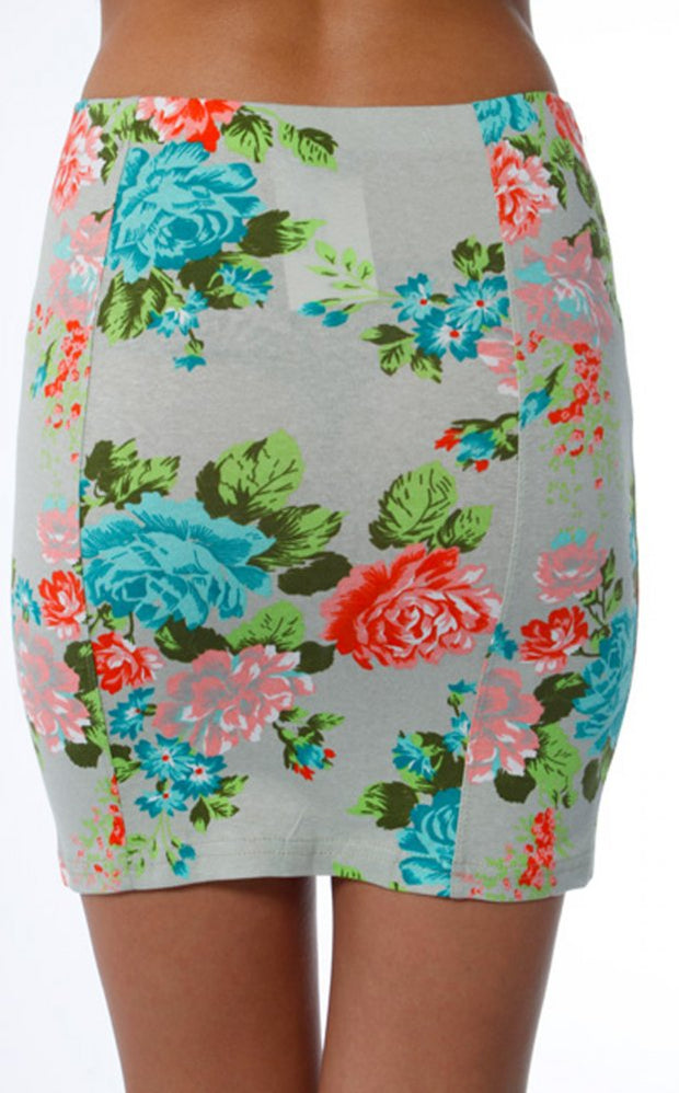 Sharone Floral Bodycon Skirt