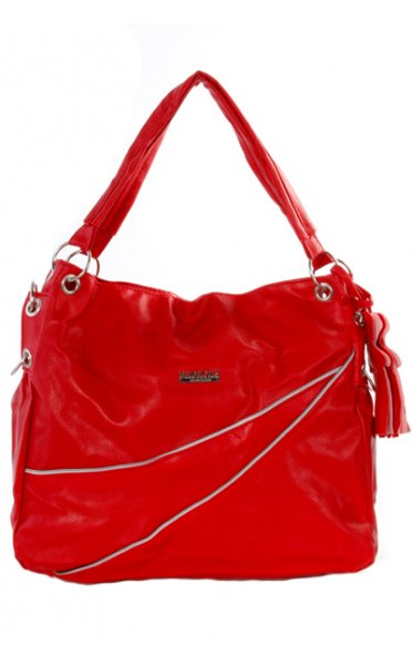 Darby Boho Charm Bag In Red