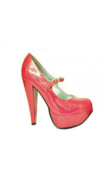 Alexa Patent Platform Shoes In Pink
