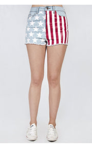 Limited Edition USA Stars & Stripes Denim Shorts