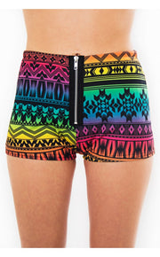 Summer Fusion Aztec Shorts In Multi